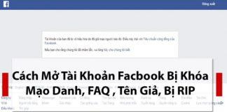 Cách lấy lại Facebook bị rip mạo danh 2019