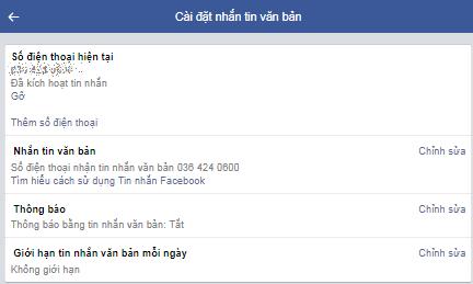 đổi tài khoản facebook thành số điện thoại