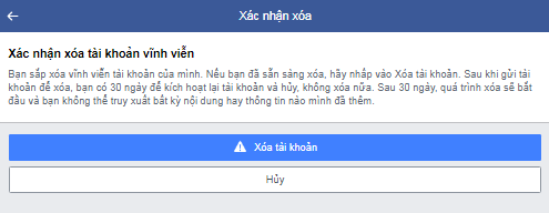 xoa nick facebook vinh vien ngay lap tuc