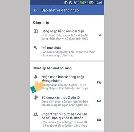 bảo mật facebook chống hack