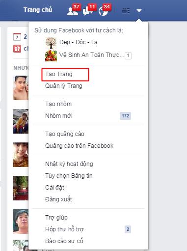 tao fanpage tren facebook chuan seo