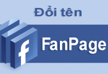 cach doi ten fanpage facebook
