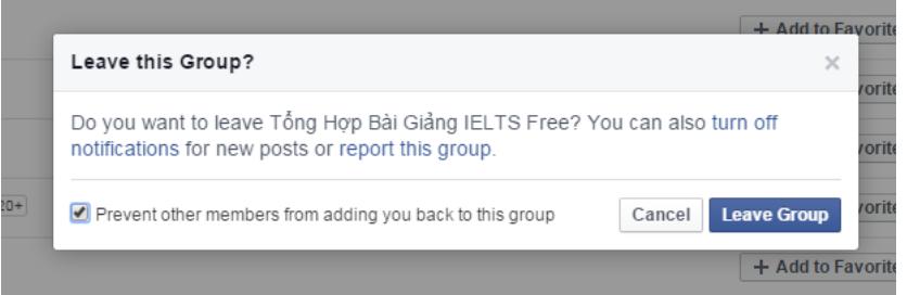 chặn thêm vào các nhóm trên facebook