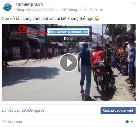 tải video trên facebook về máy tính